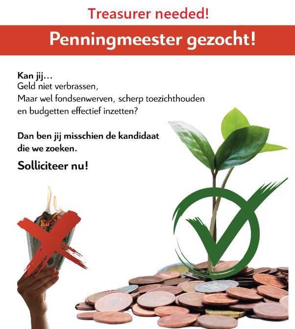 Vacature Penningmeester – Vacancy Treasurer